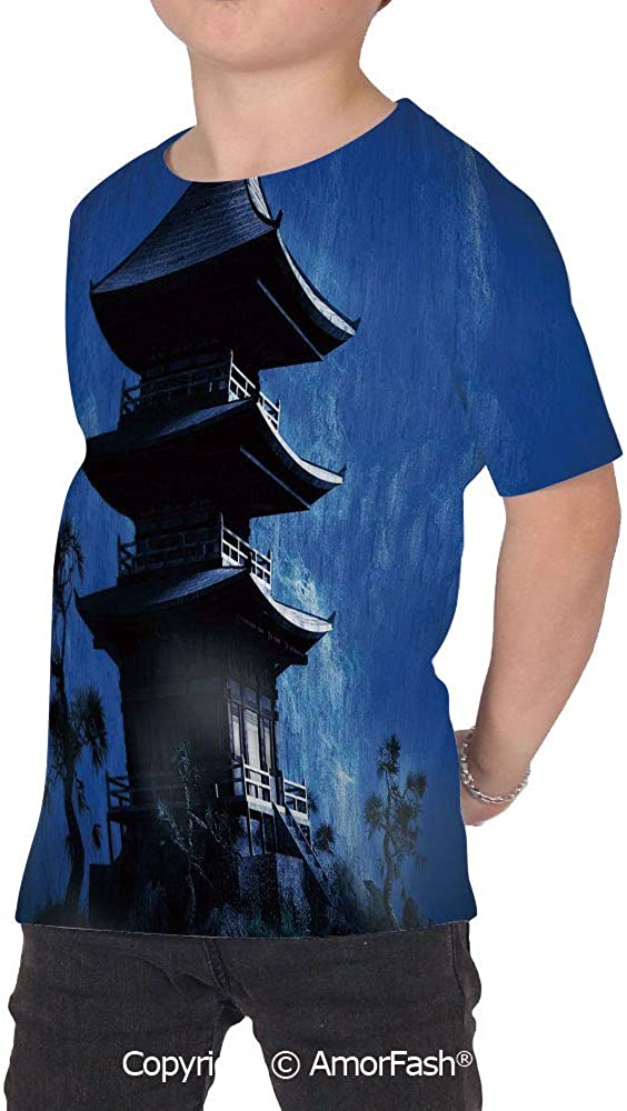 Ancient China Decorations Distinctive Childrens Premium Polyester T-Shirt,XS-2X