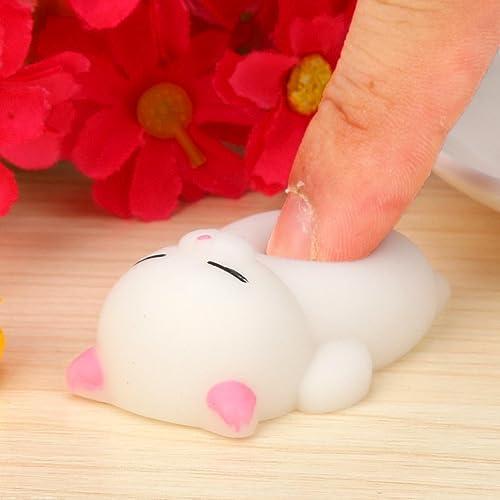 Yoyorule Cute Mini Mochi Squishy Cat Squeeze Healing Fun Kids Kawaii Toy Stress Reliever Slow Rising Hand Wrist Toy G