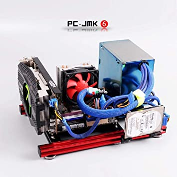 ITX PC Test Bench Computer Open Frame Overclock Air Case Mini Aluminum HTPC PC Support Graphics Card