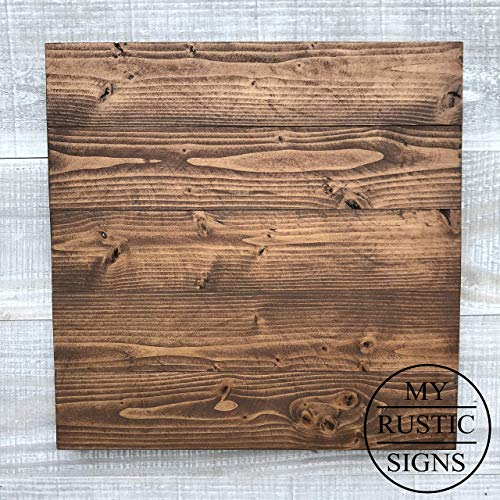 Rustic Wood Sign Blank | Dark Walnut | Wedding Sign | 100% Handmade by My Rustic Signs with FSC-Certified Wood