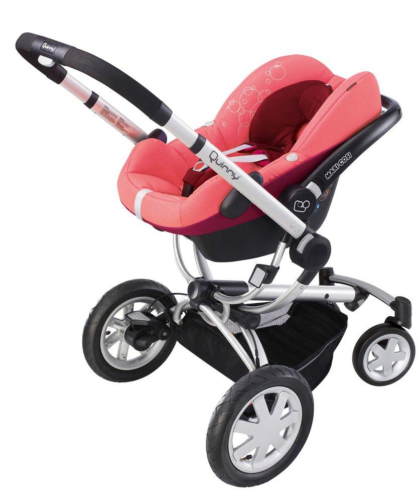 Quinny 60404930 Buzz 4 - Silla de paseo con cesta, capota, protector para la lluvia y adaptador para capazo (4 ruedas), color rosa y granate: Amazon.es: ...