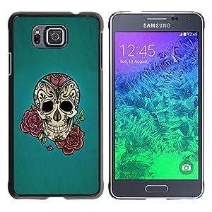 Stuss funda/carcasa rígida–carcasa funda–Rose Ink Tattoo Blue Rock Roll Metal–Samsung Galaxy Alpha G850