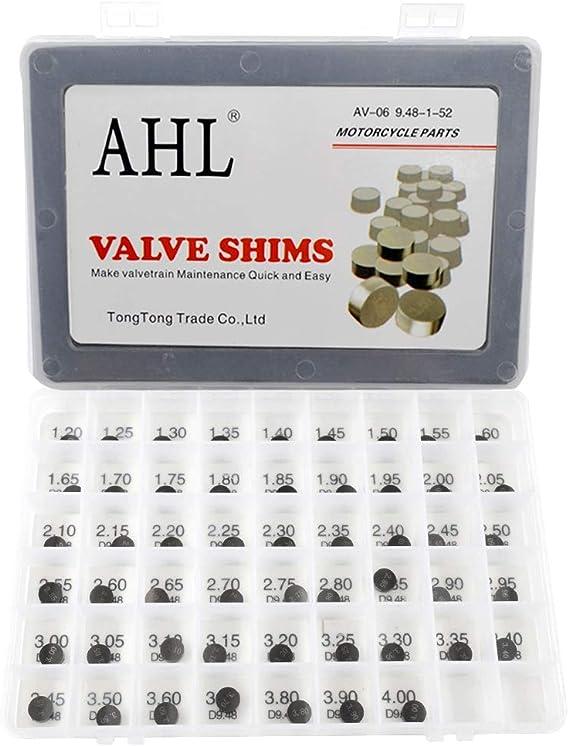 AHL Pastille r/églage soupapes kit valve shim 9.48mm 52pcs 1.20-4.00mm pour Yamaha TDM850 1992-1993