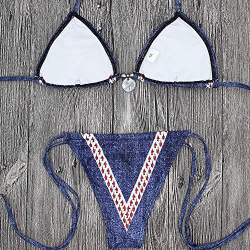 I Split L Da Nuovi M Oudan Costumi Dimensione Swimwear Band colore Bagno TBPdPWxa