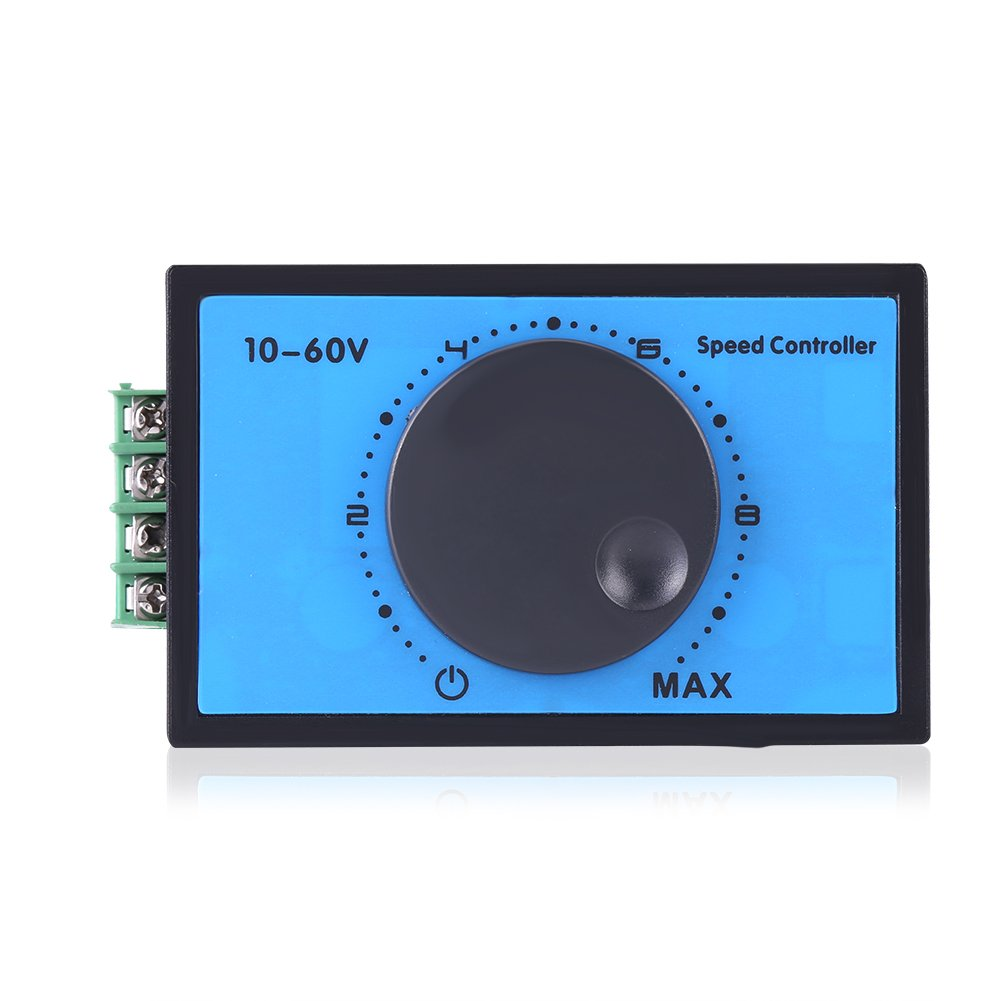 DC 10-60V MAX 20A PWM Motor Speed Controller Regulator Motor Driver Governor Stepless Variable Rotary Switches 12V 24V 36V 48V Pulse Width Modulator For 775 Motor and More