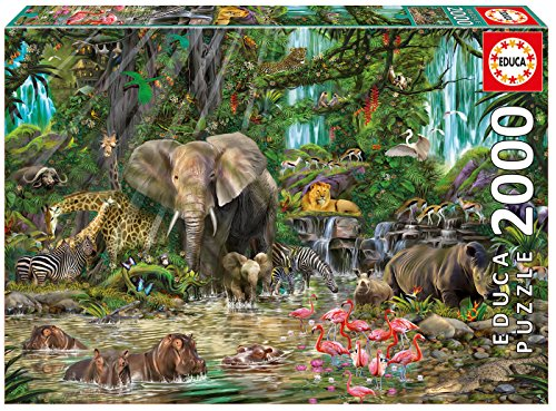 Educa African Jungle Puzzle, 2,000-Piece (Elephant Jungle African)