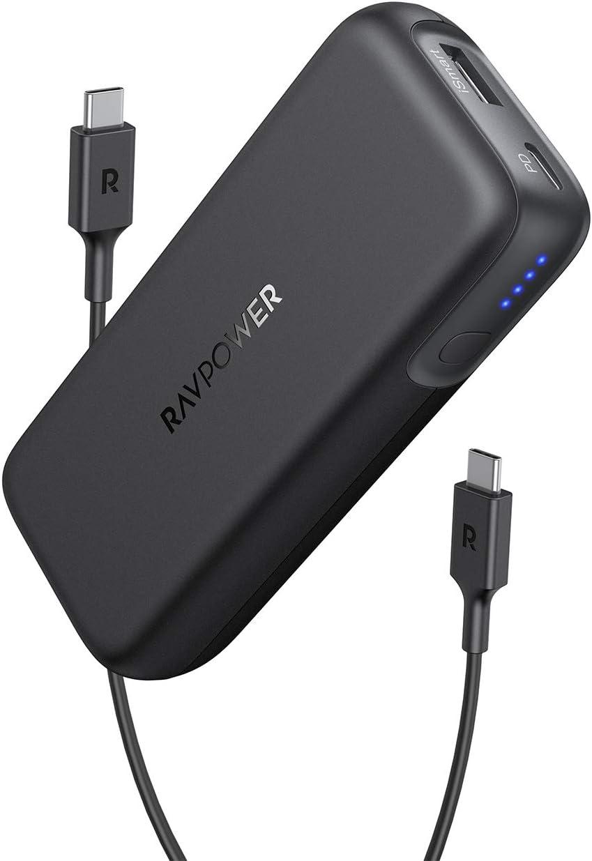 Cargador portátil RAVPower 10000 PD, 10000 mAh Power Bank USB C Power Delivery (29W MAX) Paquete de batería para iPhone 11/Pro/MAX/ 8/X/XS, Pixel 3/3XL/2XL, S10, iPad Pro 2018 y más: Amazon.es: Electrónica
