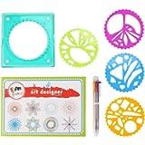 Yinuoday Spirograph Set for Kids Spiralgraph Drawing Kit Children Plastic Geometric Ruler Art Toy