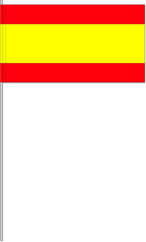 10 banderitas * España * como decoración para fiesta temática o Países de fiesta//Banderas banderines de papel Banderas Flag Rojo Amarillo Spain: Amazon.es: Juguetes y juegos
