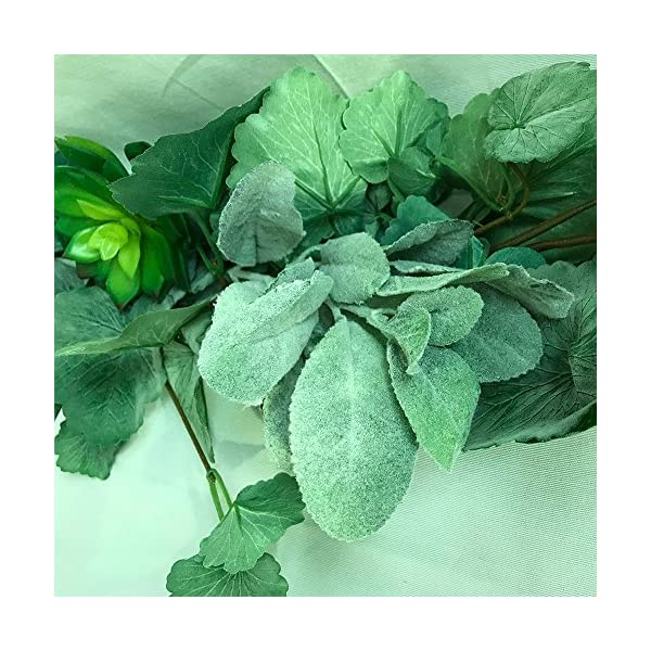Aisamco-6-Pcs-Artificial-Flocked-Lambs-Ear-Leaf-Spray-Rabbit-Ear-Leaf-in-Silver-Green-Fake-Plants-Artificial-Greenery-Wedding-Bouquet-Artificial-Plants-Green-Leaf-Floral-Arrangement