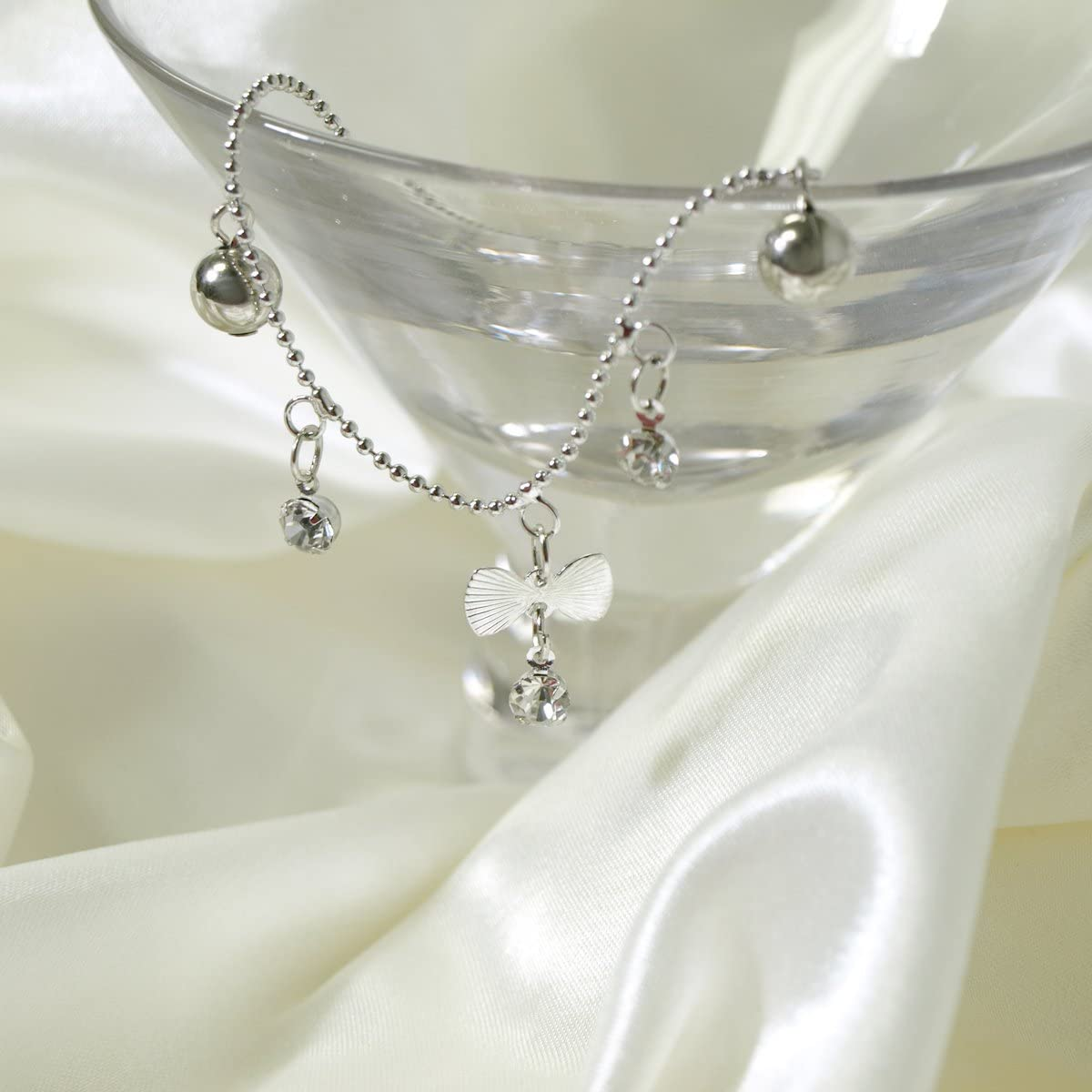 Wrapables Forget Me Knot Bow Tie Anklet