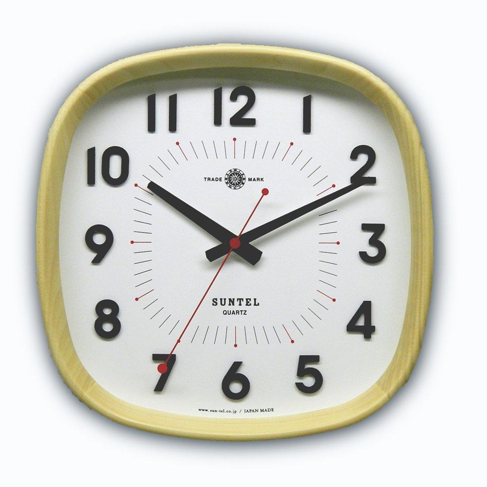 日本製 さんてる 天然木 ナチュラル電波時計 「WARM」 DQL697NA B07DMGVBY4