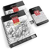 Arteza Bundle Sketch Book 9x12 + Sketch Pencils