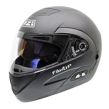 NZI Fibrup BTGN Casco de Moto con Bluetooth, Goma Negro, 64 (XXXL)