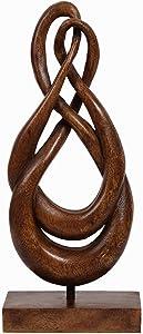 Decozen Artistic Intertwined Wooden Art Sculpture Handmade Wooden Sculpture for Room Decoration Handcrafted Art Sculpture for Living Room Hallway Guest Room Console Table Home Décor