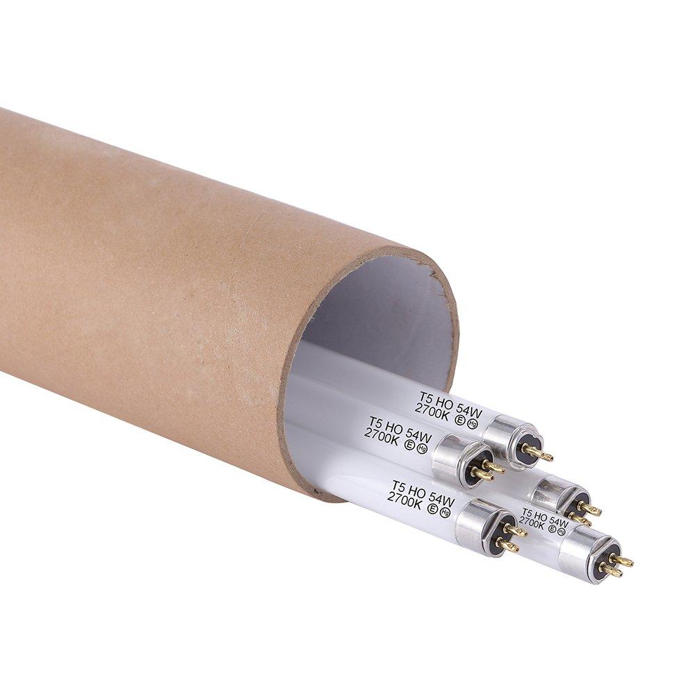 iPower 4FT 48IN 54W T5 Fluorescent High Output HO Grow Light Bulbs 5 PACK 2700K