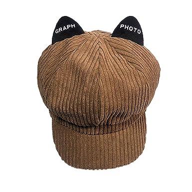 BHYDRY Sombrero de Invierno de Mujer de Moda Mantenga Caliente Tocado de Piel sintética Sombrero de