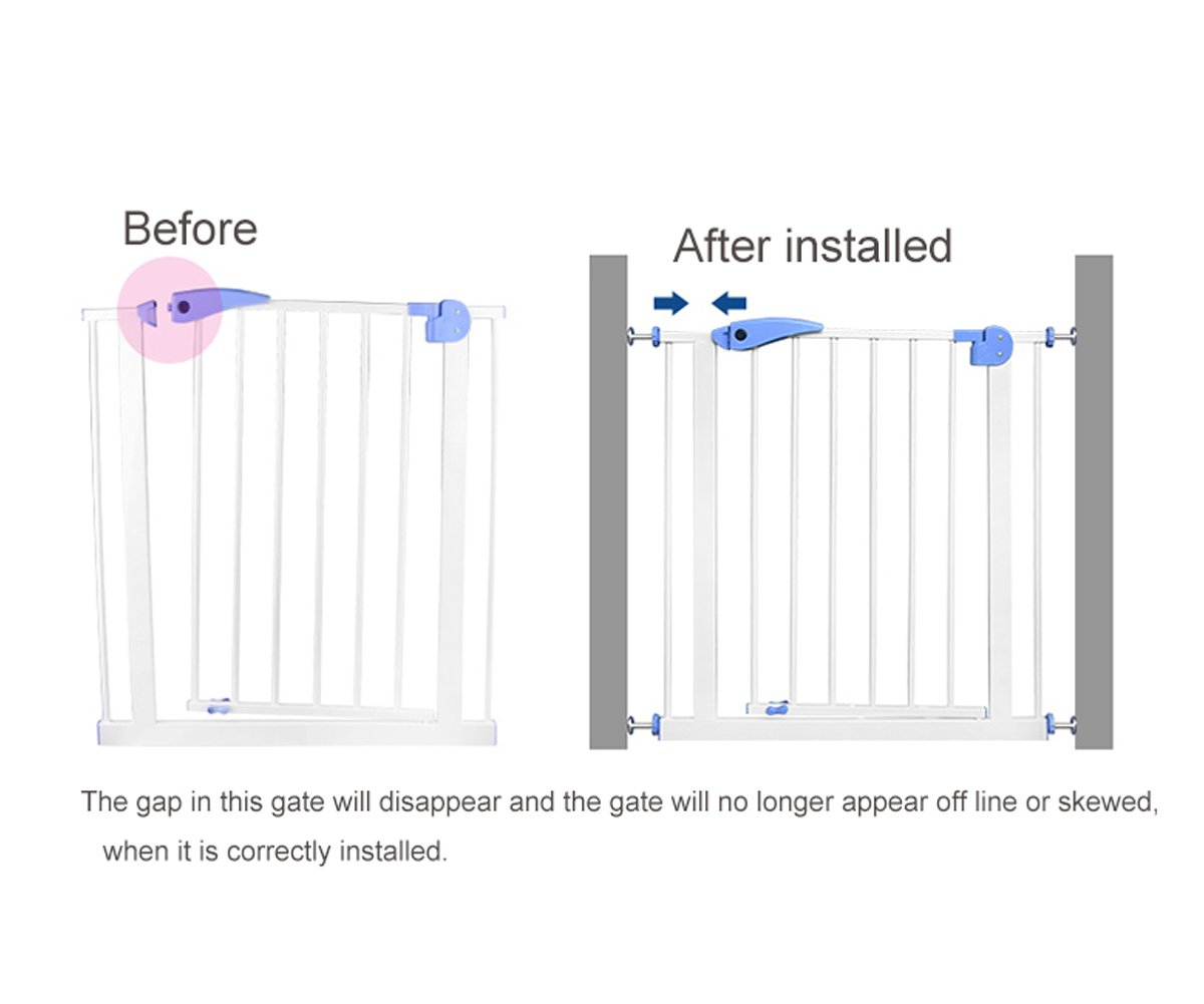 Fairy Baby Pressure Mount Easy Install Walk Thru Gate,Fit Spaces 68.9''-72.4'' Wide,29.9'' High by Fairy Baby (Image #8)