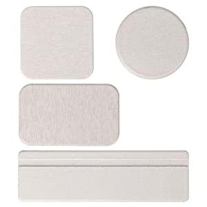 OwnMy Set of 4 Water Absorbent Diatomite Drink Coasters, Diatomaceous Earth Soap Holder Water Drying Soap Saver Dish Toothbrush Holder Set for Bathroom and Kitchen (Light Grey)