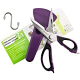 Dwave Kitchen Shears Heavy Duty Take Apart For Easy Clean Utility Scissor Stainless Steel Multi Function with Magnetic Sheath, Perfect For Chicken, Poultry, Fish, Seafood, Herbs, BBQ