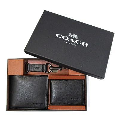 89ed315e3c6d (コーチ) COACH メンズ 財布 キーリング パスケース F64118-BLK コンパクト ID スポーツ カーフ