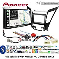 Volunteer Audio Pioneer AVIC-W8400NEX Double Din Radio Install Kit with Navigation, Apple CarPlay and Android Auto Fits 2011-2013 Hyundai Sonata