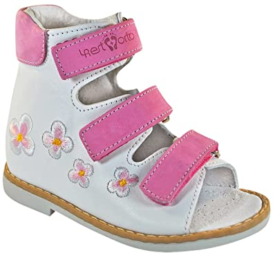 125d3bacc2 4REST ORTO Kids Orthopedic Girls Shoes - Leather Sandals. Flat Feet  Prevention (Toddler/
