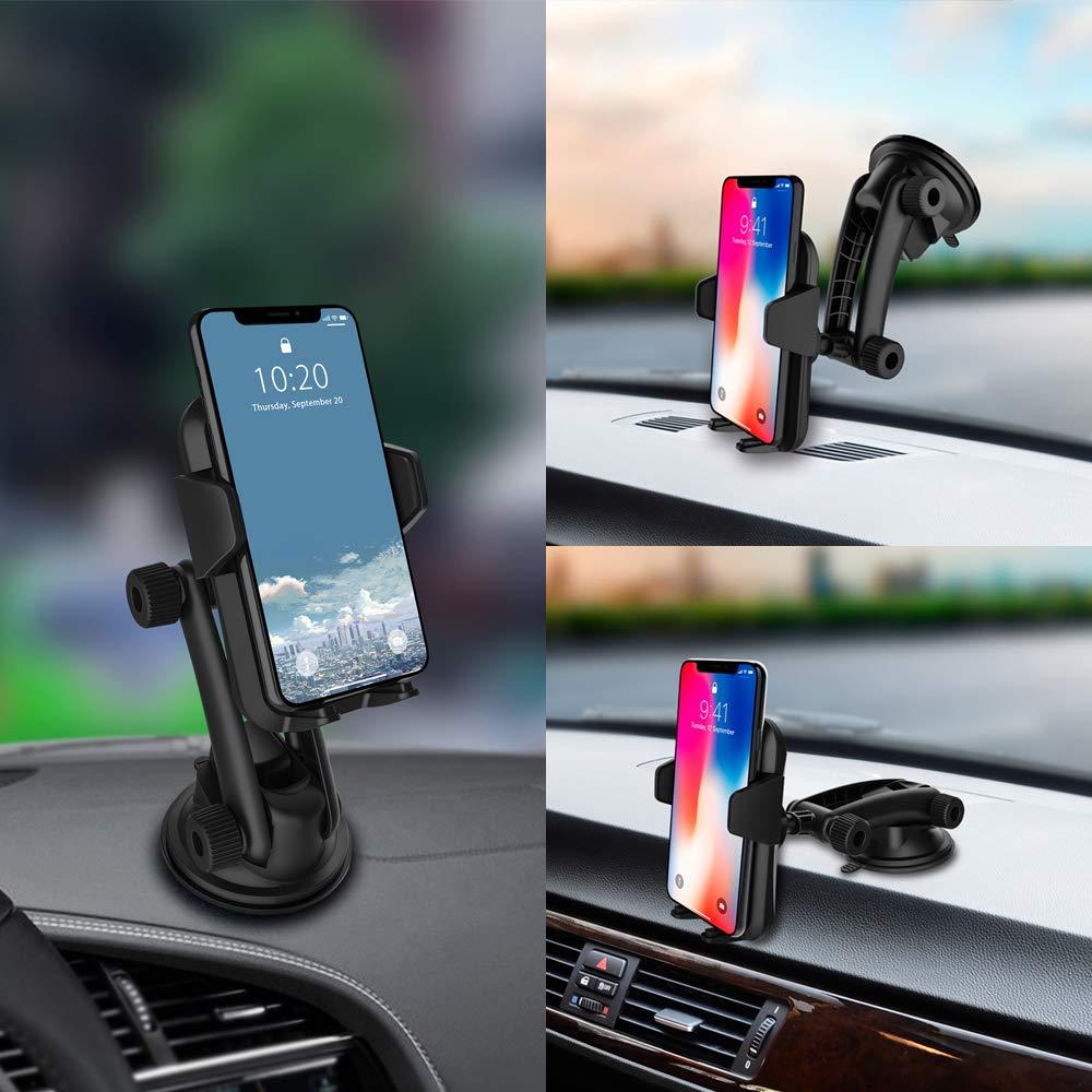 Cell Phone Holder for Car, Car Phone Mount, Yostyle Car Windshield & Dashboard Phone Mount Cradlefor iPhoneX/Xs/XR/Xs Max/8/8Plus/7/6s/SE,Galaxy S10/S9/S8/S7/Note 8 9,LG, Nexus, Sony,BlackBerry