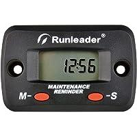 Runleader digitale toerenteller/urenteller,onderhoudsherinneringen,uitschakeling door gebruiker, vervangbare batterij…