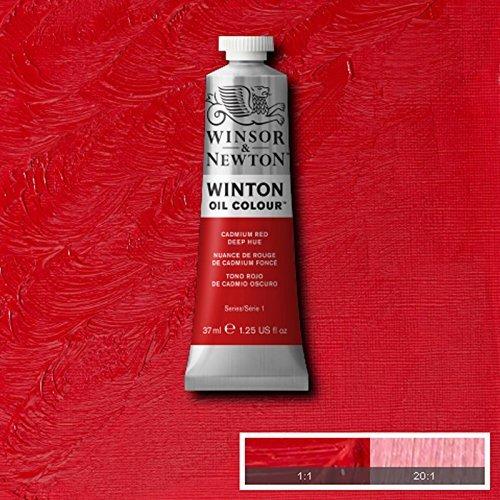 Winsor & Newton Winton Oil Paint Tube Artist Art 37ml & 200ml ALL COLOURS (Cadmium Red Deep Hue, 37ml)