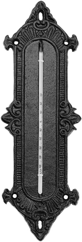 Details about  /Rustic Country Cast Iron wall thermometer wall decoration wall thermograph