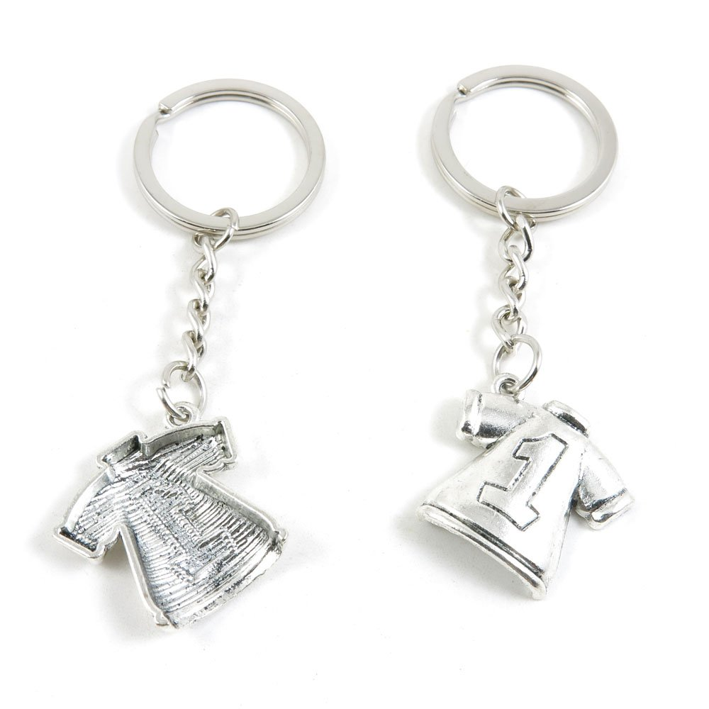 50 x Keychain Keyring Key Ring Chain Jewelry Findings B1JE4 Short Shirt