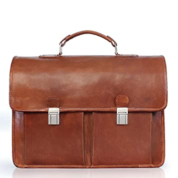 f534d0b5e0c2 BRUNE Tan Color 100% Genuine Continental Leather Laptop Bag For Men Office  Briefcase For Men Designer Leather Briefcase Hand Made And Hand Finished ...
