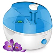 PurSteam 4L Ultrasonic Cool Mist Humidifier – Superior Humidifying Unit with Whisper-Quiet Operation and Automatic Shut-Off. Large Water Tank Allows Over 20 hrs of Operating Time