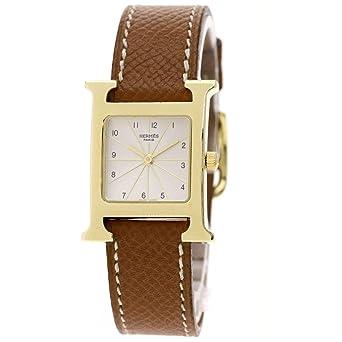 f77b1e378f Amazon | [エルメス]Hウォッチ 腕時計 GP/革 レディース (中古) | 並行 ...