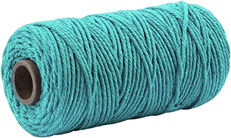 100M Durable Bakers Twine for DIY Crafts and Handmade Arts 3MM Red Macrame Cord Craft Cotton String