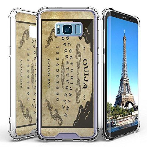 Galaxy S8 Case, DuroCase AquaFlex Shockproof TPU Bumper w/ Hard Plastic Back Shield 2in1 Hybrid Case (Clear) for Samsung Galaxy S8 SM-G950 (Released in 2017) - (Ouija Board)]()