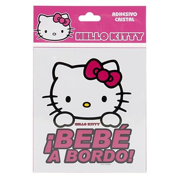 Set Bagno Hello Kitty.Hello Kitty Kit3010 Adesivo Vetro Bimbo A Bordo