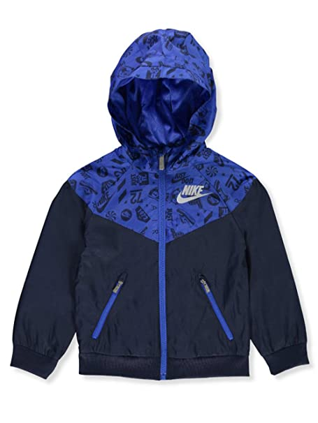 114899bdc4fa Amazon.com  Nike Boys  Hooded Windbreaker Jacket - Obsidian
