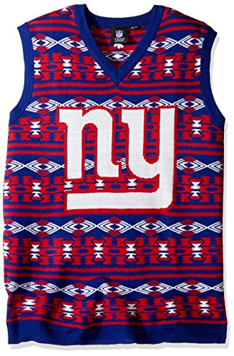 New York Giants Aztec Print Ugly Sweater Vest Large