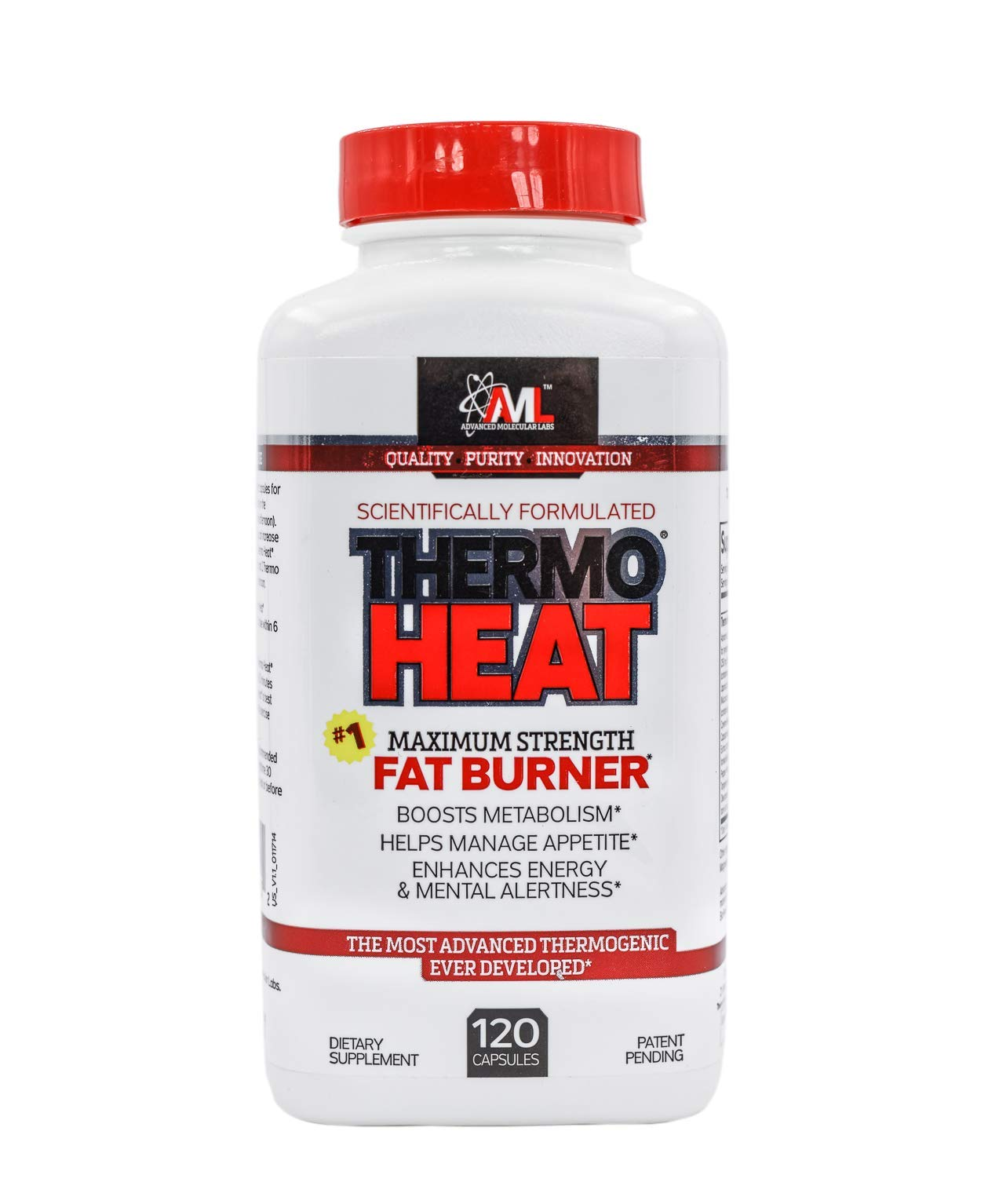 Advanced Molecular Labs - Thermo Heat Daytime, Maximum Strength Fat Burner, Boosts Metabolism, Helps Manage Appetite,120 Capsules