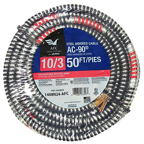 50 ft. 10/3 BX/AC-90 Armored Electrical Cable by AFC