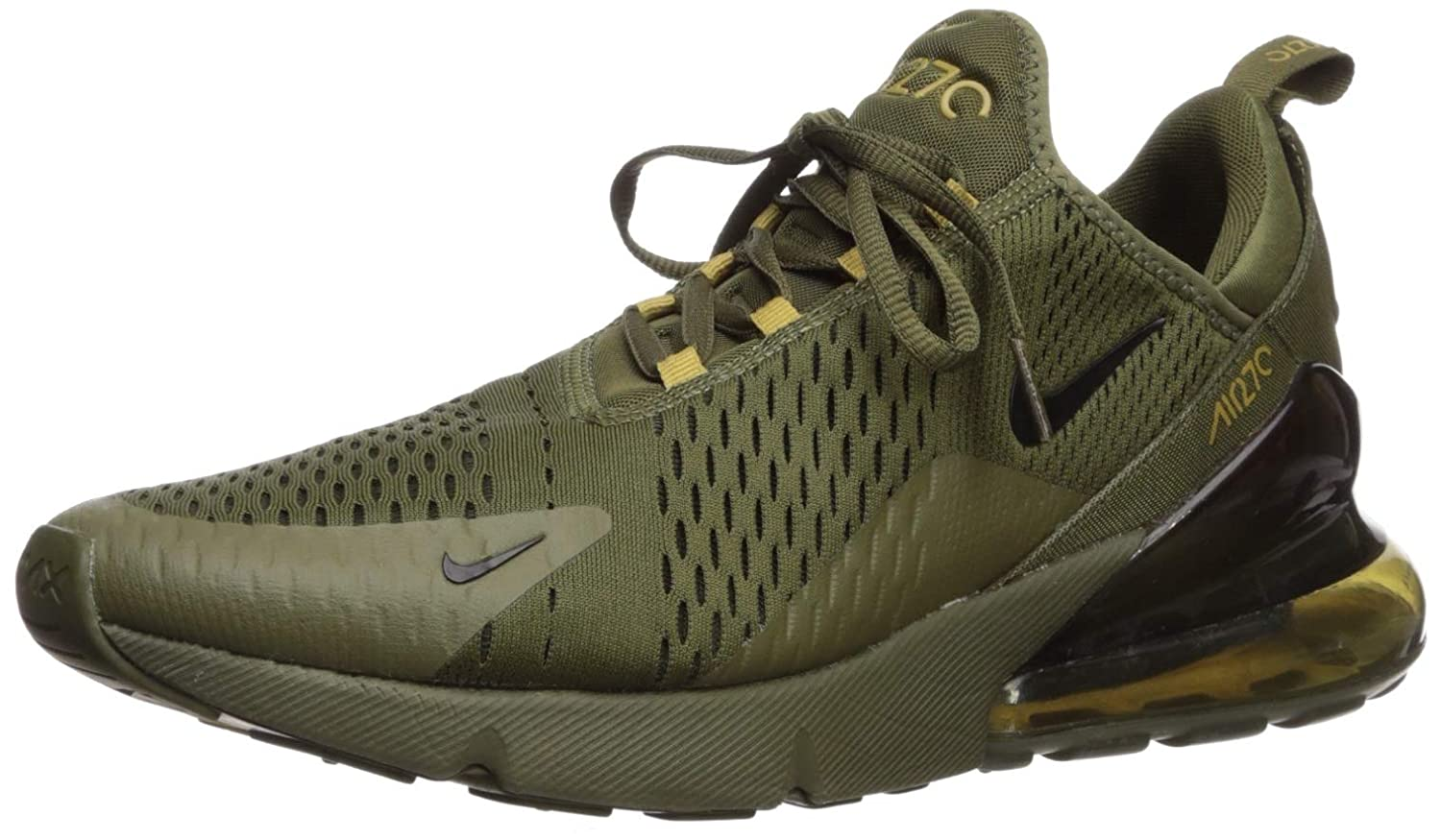 brand new 64573 09512 Nike Men's Air Max 270 Fitness Shoes, Multicolour Black/Olive Canvas 301, 6  UK