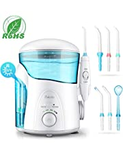 iTeknic Water Flosser with UV Sterilizer, Dental Flosser for Teeth with 2 Modes,7 Jet Nozzles and 600ml Reservoir,10 Stepless Water Pressure and FDA Approved Oral Irrigator for Dental Cleaning