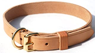 product image for Signature K9 1-Inch Adjustable Leather Collar