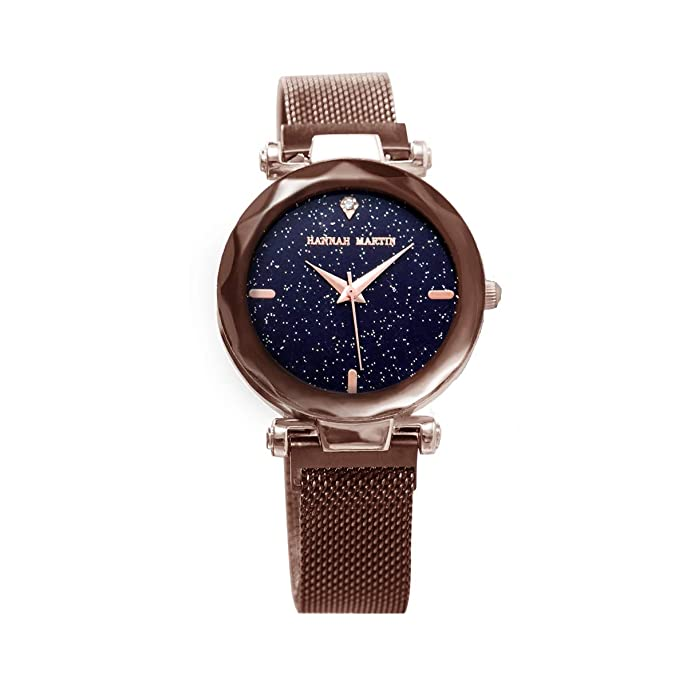 Mujer Relojes, Lananas Moda Corte de Diamantes Dial Estrellado del Cielo Malla Correas