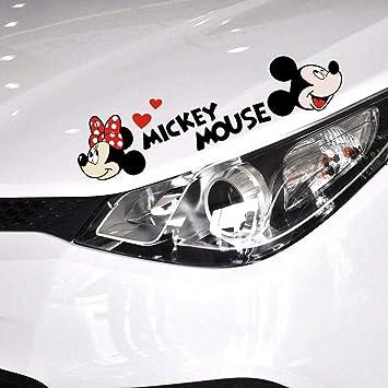 Minnie Mouse Wandtattoo Niedliche Cartoon Mickey Mouse Minnie Auto Aufkleber Und Aufkleber Autozubehör Auto Aufkleber Baumarkt