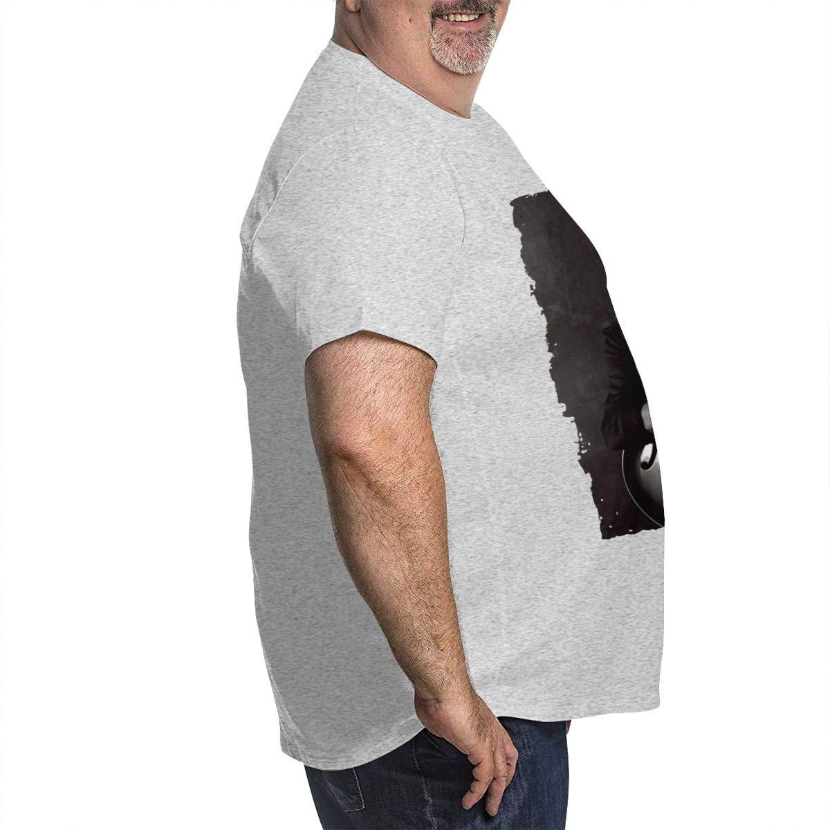Nanatang Peter Frampton Mens Short Sleeve Round Neck Big Size TeeCasual Gray