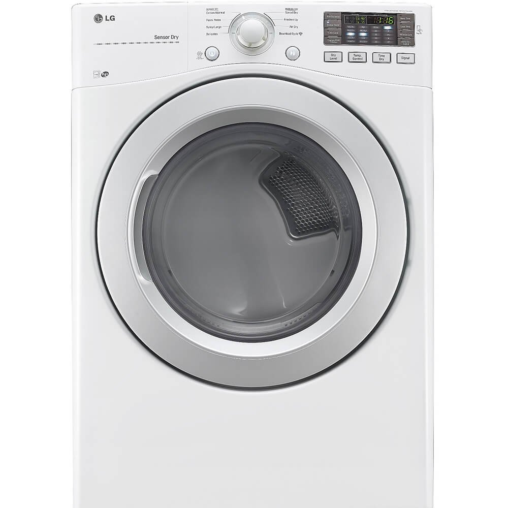 LG DLG3171W 27'' Gas Dryer with 7.4 cu. ft., 8 Drying Cycles, in White