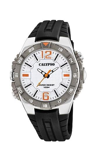 Calypso Watches Reloj Analógico para Hombre de Cuarzo con Correa en Plástico K5778/1: Amazon.es: Relojes
